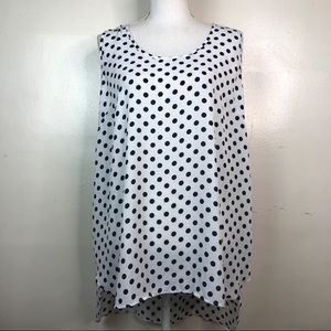 Liberty Love Polka Dot Swing Tank Top with Bow L